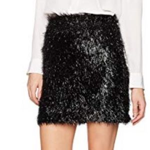 French Connection shimmer fringe mini skirt